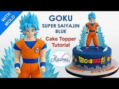 How to make Goku Cake Topper / Cómo hacer a Goku para tortas - YouTube