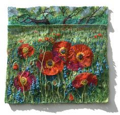 Embroidery & Textile Art   Flowers - Preview   Natalia Margulis - Textile & Embroidery Artist