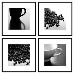 Coffee Photo Collection   Coffee Art, Kitchen Decor, Home Decor, Coffee  Prints   Set Of 4   Fine Art Photographs Bu0026W Or Sepia