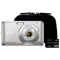 "Sony DSCW310BLDS Cyber-Shot 12.1 MegaPixel Digital Camera Bundle with Case and Memory Card by Sony. $109.88. Maximum pixels: 12.1-megapixel capture resolution / 1/2.3"" Super HAD CCD image sensor Memory: 6MB internal flash memory / Memory Stick Duo, PRO Duo, PRO HD-Duo and SD card compatible Zoom power: 4x optical zoom / 8x total zoom (with digital zoom) Shooting modes: Intelligent Auto / Intelligent Scene Recognition / Face Detection / Motion Detection / Smile Shut..."