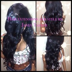 Hair extensions and style by Jandy Taylor