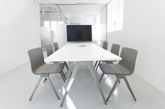 Comfortable conferencing with A-Chair and A-Table #design #conferencing #furniture