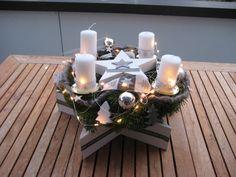 Adventskranz - ♥Sofort lieferbar edler XL Sternen Adventskranz♥ - ein Designerstück von Sternenglanz-Clemens bei DaWanda