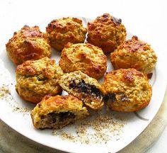 Protein Muffins mit Füllung   Leckerer Snack