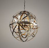 G ROOM  Orbital Sphere Small Pendant Pewter | Chandeliers & Pendants | Restoration Hardware Baby & Child