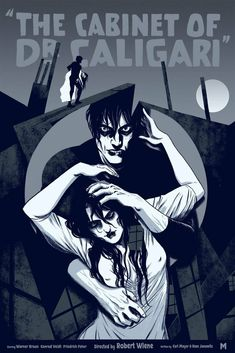 'The Cabinet of Dr Caligari' (Variant Edition) by Becky Cloonan Horror Movie Posters, Horror Films, Robert Wiene, Dr Caligari, Tv Movie, Classic Horror Movies, Alternative Movie Posters, Vintage Horror, Film Books