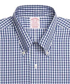 Brooks Brothers Red Fleece Gingham Sport Shirt