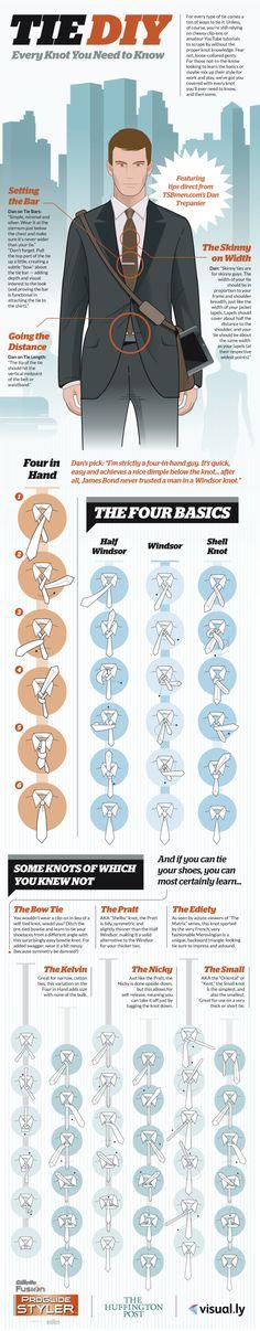 So binden Sie Ihre Krawatte richtig - Alle Krawattenknoten, die Sie kennen sollten! #TIE #PADAJA #BUSINESS