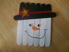 craft stick snowman- could be an ornament