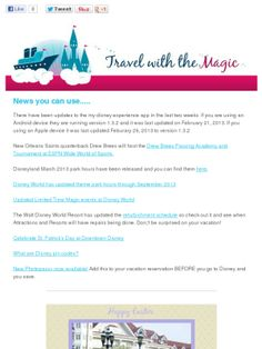 March 2013 News you can use #Disney