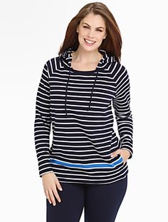 Talbots - Weekend Terry Stripe Hoodie | Sneak Peek | Woman
