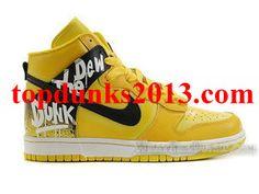 High Top Do The Dew Orange Custom Nike Dunk Men High Quality