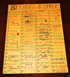 80 things to do this summer!