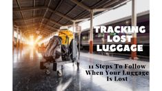 You're standing at the baggage carousel and all of the bags have been collected, but yours hasn't shown up. You're pretty sure no one else has taken it either. Baggage, Carousel, Travel Tips, Track, Lost, Pretty, People, Bags, Handbags