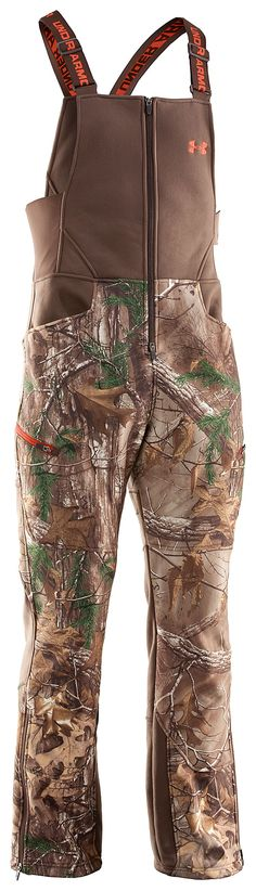 Under Armour® ColdGear® Ayton Camo Bibs for Men | Bass Pro Shops Large Realtree Xtra