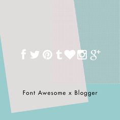 Mooi: How To Create Social Media Widget Using Font Awesome On Blogger
