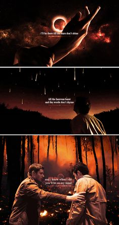 Dean + Castiel: and i'll love you - always #spn #destiel