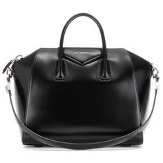 Givenchy Antigona Medium Leather Tote (£1,650) ❤ liked on Polyvore featuring bags, handbags, tote bags, black, givenchy tote bag, genuine leather tote, givenchy tote, leather tote and handbags totes