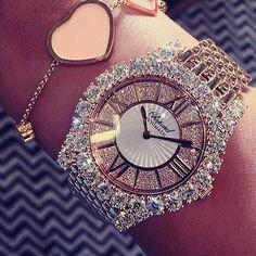 Bling it on Jewelry Accessories, Fashion Accessories, Fashion Jewelry, Do It Yourself Fashion, Stylish Watches, Beautiful Watches, Diamond Are A Girls Best Friend, Luxury Jewelry, Body Jewelry