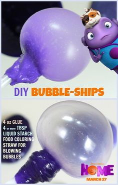 DIY bubble-ships inspired by the movie Home. Sponsored by DreamWorks.