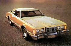 Via vintage everyday: Interesting Photos of Vintage Car Ads from 1950s to 1980s - Editorial - 1976 Ford Thunderbird with Cream and Gold Luxury Group