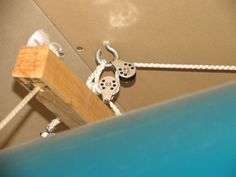 Pulley system guide for hanging a canoe for storage. I need to make this for my new canoe in the barn.