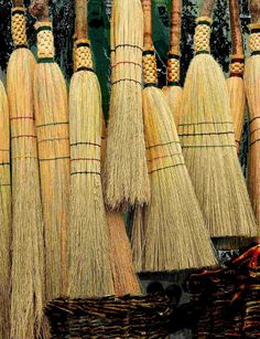 Handmade Hearth Brooms Broom Corn, Witch Broom, Brooms And Brushes, Bedknobs And Broomsticks, Whisk Broom, Willow Wood, Swept Away, Clean Sweep, Repurposed Items