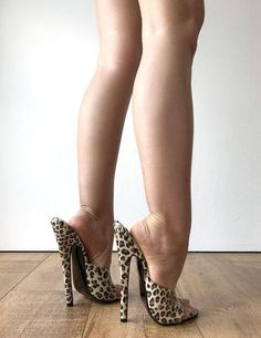 Leopard Patent Sexy Mistress Hi Heel Stiletto Fetish image 4 Sexy Legs And Heels, Hot High Heels, High Heel Boots, Pumps Heels, Stiletto Heels, Mules Shoes, Extreme High Heels, Fashion Socks, Poses