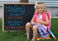 Back-to-School Chalkboard photo - love this idea!