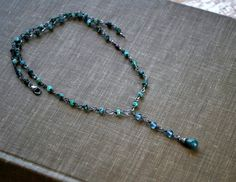 Emerald Necklace Gemstones   Boho  Wire Wrapped  by letemendia, $63.00