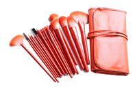24pcs Professional orange high quality Make Up Makeup Brush Set Cosmetic Makeup Brushes Kit With Bag H1188O