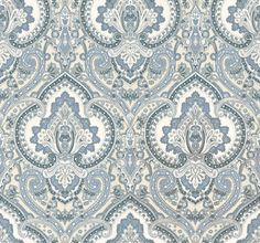 Castlehead Paisley (PRL037/03) - Designers Guild Wallpapers - A very intricate and ornamented paisley paper. Taking the tradition and enlivening it with a contemporary twist. Shown here in porcelain. Please request a sample for true colour match. Wide width.