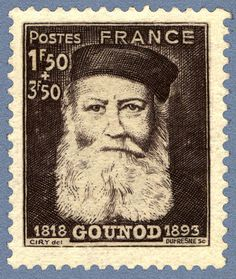 Zoom sur le timbre «Charles Gounod 1818-1893 »