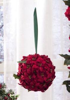 Poinsettia Kissing Ball