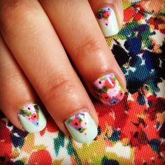 Charming Summer Floral Nails Art To Copy Now Different Nail Designs, Cute Nail Designs, Garra, Floral Nail Art, Great Nails, Nail Trends, Toe Nails, Nails Inspiration, How To Do Nails