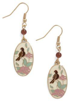 Bird earrings modcloth