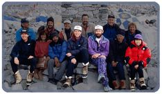 The 1996 Adventure Consultants expedition. Rob Hall, Scott Fischer, Yasuko Namba, Doug Hansen, and Andy Harris all perished during the expedition.