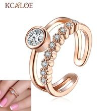 Moda Joint Knuckle Anel Mulheres Dedo Anel de Ouro Rosa E prata Banhado de Cristal Austríaco Zircão Prego Conjunto Midi Mid Dedo anéis(China (Mainland))
