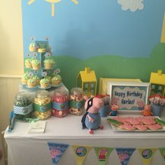 George pig themed boys party  https://www.facebook.com/Mylovelylittlenest