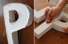 DIY Plaster of paris letters