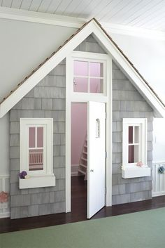 Repurposed Closet in a Kids Room.... As my girls embark on adulthood I find myself thinking about when they start their own families ... My home will have all the things grandmas house should have ... Like this!!