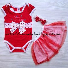 Mommy's Lil' Cutie Clothing Set ( Romper + Tutu Skirt + Headband ) Item Code: BC00038S Item Size: All Size Item Color: Red, Pink, White Age: 3-12 months 1 set contain of Romper + Tutu Skirt + Headband Price: S$12.50 / set