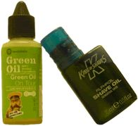 Green Oil On Tour and King of Shaves bottle