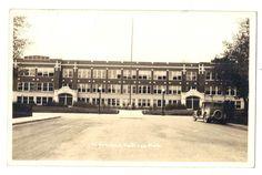 High School HASTINGS, MICHIGAN 1940s Real Photo Postcard