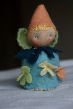 little gnome - fairy @ tilly tilda - etsy    https://www.etsy.com/listing/124874745/waldorf-gnome-fairy-gnome-doll-spring?ref=v1_other_2