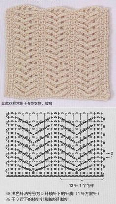 Find and save knitting and crochet schemas, simple recipes, and other ideas collected with love. Crochet Instructions, Crochet Diagram, Crochet Chart, Crochet Motif, Chunky Knitting Patterns, Crochet Stitches Patterns, Stitch Patterns, Bobble Stitch Crochet Blanket, Crochet Blocks