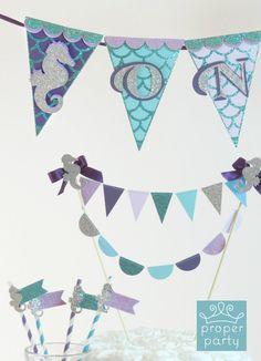 mermaid birthday banners
