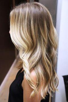 light brown to blonde balayage ombre before and after | Dicas e Tendências de Cortes Cabelos Longo Verão 2014