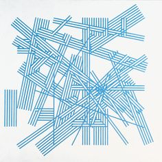 Kenneth Martin, 'Chance and Order, Change 6 (Monastral Blue)' 1972 The blue lines here remind me of sticks laying ontop of each other. The overlapping creates depth at several angles. Graphic Design Illustration, Illustration Art, Illustrations, Imagination Quotes, Abstract Words, Abstract Art, Pattern Design, Drawings, Artwork
