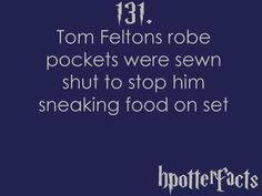 Harry Potter Facts: Tom Felton